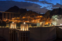 Hoover Dam at twilight Royalty Free Stock Photography