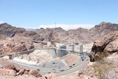 Hoover Dam. View of the Hoover Dam from Arizona at noon Stock Photography