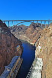 Hoover Dam. View on the bridge from the Hoover Dam Royalty Free Stock Images