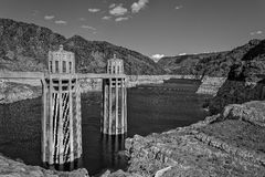 Hoover Dam. View of Hoover Dam on Colorado River in Arizona, Colorado and Nevada Royalty Free Stock Images