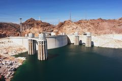 Hoover Dam. View of the Hoover Dam and Lake Mead Royalty Free Stock Photography