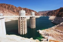 Hoover Dam. View of the Hoover Dam and Lake Mead Royalty Free Stock Photos