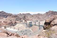 Hoover dam. View of the hoover dam in Nevada and Arizona. The hoover dam holds the water of the Colorado river Stock Image