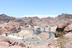 Hoover dam. View of the hoover dam in Nevada and Arizona. The hoover dam holds the water of the Colorado river Stock Photos