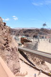Hoover dam. View of the hoover dam in Nevada and Arizona. The hoover dam holds the water of the Colorado river Royalty Free Stock Image