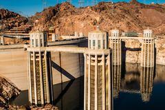 Hoover dam view NV USA royalty free stock photography