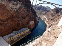 The Hoover dam Royalty Free Stock Photo