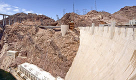 Hoover Dam visitor center Nevada panorama. Royalty Free Stock Image