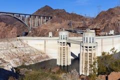 Hoover Dam, Visitoris Center and Pat Tillman Bridge in Boulder C Royalty Free Stock Photos
