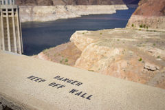 Hoover Dam Warning Stock Photography