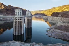 Hoover Dam Water Electricity Power Station USA Royalty Free Stock Photography