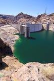 Hoover Dam and Water Intake Towers. Water intake towers at Hoover Dam, Nevada / Arizona border royalty free stock image