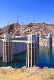 Hoover Dam and Water Intake Towers Stock Photos