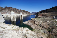 Hoover dam water level Stock Photography