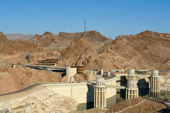 Hoover Damb Electric Plant Power Grid Stock Photography