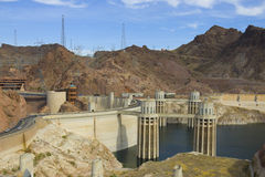 Hoover Damn. Lake Mead at Hoover Dam Panorama royalty free stock image