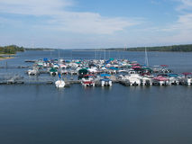 Hoover Marina. Boats at Hoover Marina in Westerville, Ohio Royalty Free Stock Photo