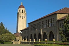 hoover Stanford wieży Zdjęcia Stock