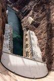 Hoover tama architektoniczny arcydzieło przy granicą między Nevada i Arizona zdjęcia royalty free