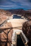 Hoover tama architektoniczny arcydzieło przy granicą między Nevada i Arizona obraz royalty free