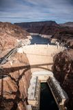 Hoover tama architektoniczny arcydzieło przy granicą między Nevada i Arizona zdjęcie royalty free