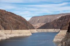 Hoover tama architektoniczny arcydzieło przy granicą między Nevada i Arizona fotografia stock