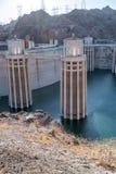 Hoover tama w Stany Zjednoczone Hydroelektryczna elektrownia na Ariz Zdjęcie Royalty Free