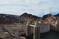 Hoover-verfluchte und Erinnerungsbrücke lizenzfreie stockbilder