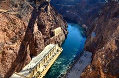 Hooverdam-Brückenansicht, Las Vegas, Nevada, USA, Nordamerika Stockbild
