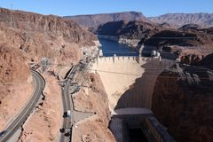 Hooverdam in de herfst Stock Foto's