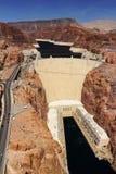 "Hooverdam van Mike O ` Callaghan†""Pat Tillman Memorial Bridge, Nevada royalty-vrije stock afbeelding"
