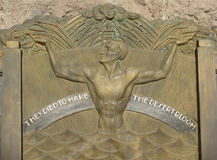 Hooverdamm Art Deco Memorial Stockfoto