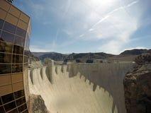 Hooverdamm an der Colorado-Strom USA 4 lizenzfreies stockfoto