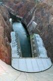 Hooverdamm ist eine konkrete Bogenschwerkraftverdammung in der schwarzen Schlucht des Colorados Lizenzfreies Stockbild