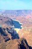 Hooverdamm von der hohen Höhe Stockbild