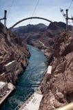 Hooverdamms-Überbrückungs-Brücke Contruction Stockfotos