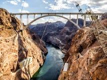 Hooverdammsbrücke - Arizona, AZ, lizenzfreie stockfotografie