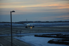 HOP AEROPLANE BEEN DEICING. Billund/juteland/ Denmark_  24.February 2017 -  Hop palne been deicing at Billund internaional airport    Photo. Francis Joseph Dean/ Stock Images