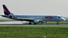HOP! Air France jet on Frankfurt Airport, FRA. HOP! Air France airplane on Frankfurt Airport, FRA Germany stock footage