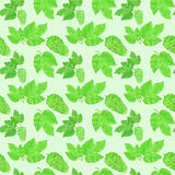 Hop, beer brewing theme. Seamless pattern with Royalty Free Stock Images
