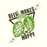 Hop beer design stock illustration