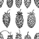 Hop beer seamless pattern Royalty Free Stock Photography