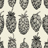 Hop beer seamless pattern Royalty Free Stock Photo