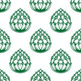 Hop blossoms seamless pattern Stock Photos