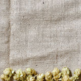 Hop border on the linen Stock Photos