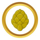 Hop cone vector icon Royalty Free Stock Image