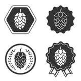 Hop craft beer sign symbol label Stock Image