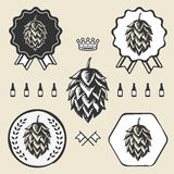 Hop craft beer vintage sign symbol label element Royalty Free Stock Photo