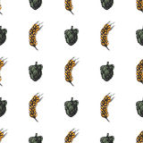 Hop craft sketch vector visual graphic seamless pattern. Stock Images