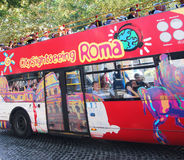 Hop on Hop Off Bus In Rome Royalty Free Stock Photo